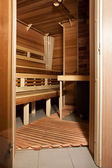 Interior of a sauna — Stock Photo