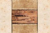 Cadre vintage papier sur un fond en bois — Photo