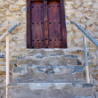 The stairs and  door in village sultanate Oman - Stock Photo