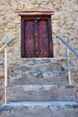 The stairs and door in village sultanate Oman — Stock Photo