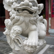Traditional Chinese Lion sculpture — Stock Photo
