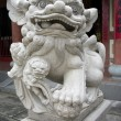 Stock Photo: Traditional Chinese Lion sculpture