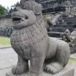 Stock Photo: Lion gate guardistatue at entrance of Borobudur temple in