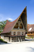 Traditional Batak house on the Samosir island — Stock Photo