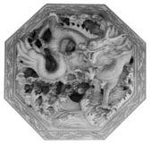Dragão de pedra de alívio em estilo chinês — Foto Stock