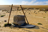 Water well in Oman Desert — Stock Photo