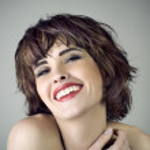 Photo of beautiful laughing woman — Stock Photo #9184206