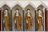 Buddha Statues, Chinese Temple, Penang, Malaysia — Stock Photo