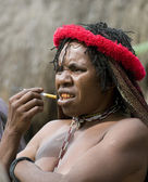 Vrouw van een Papoea stam — Stockfoto