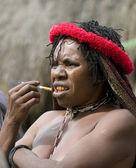 женщина папуасские племени — Стоковое фото