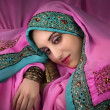 Beautiful womin traditional indicostume — Stock Photo #9376283