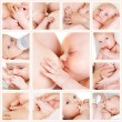 Collage of photos of babies — Stock Photo #9376334