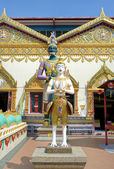 Sculpture at the Thai temple Wat Chayamangkalaram — Stock Photo