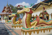 Sculpture at the Thai temple Wat Chayamangkalaram , Malaysia — Stock Photo