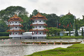 Chinese pagoda in Chinese Garden. Singapore — Stock Photo
