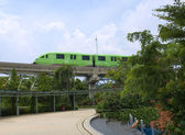 Monorail train from Sentosa island, Singapore — Stock Photo