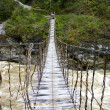 Rope bridge in New Guinea — Stock Photo #9656633