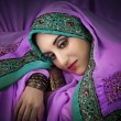 Beautiful womin traditional indicostume — Foto de stock #9656697