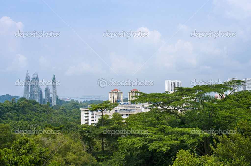 Top view of Singapore City — Stock Photo #9656585