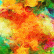 Color abstract dabs from an oil paint on a canvas from a brush — Stock Photo