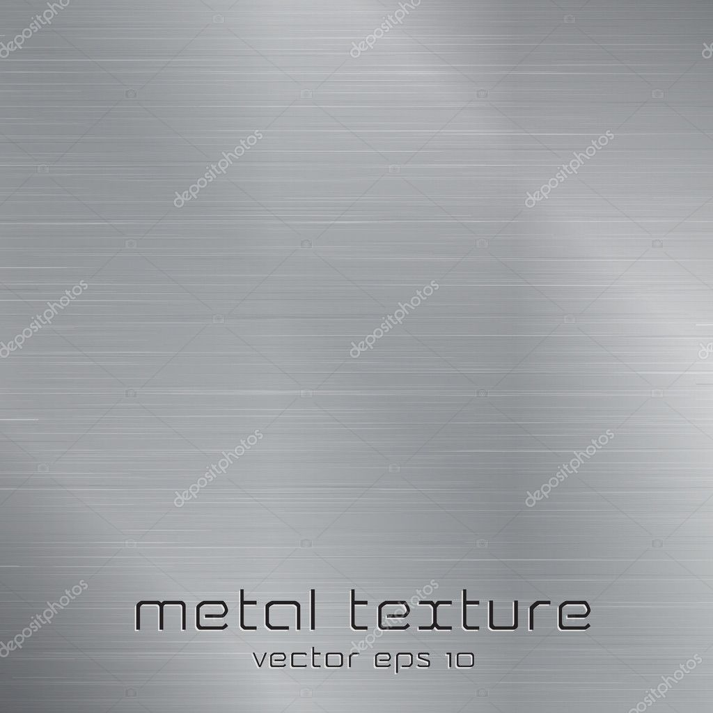 Seamless metal texture background. Vector  Stock Vector #10007868