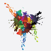 Colorful paint splats vector background — Stock Vector