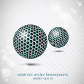 Background with two abstract coloured spheres. Vector — Stock Vector