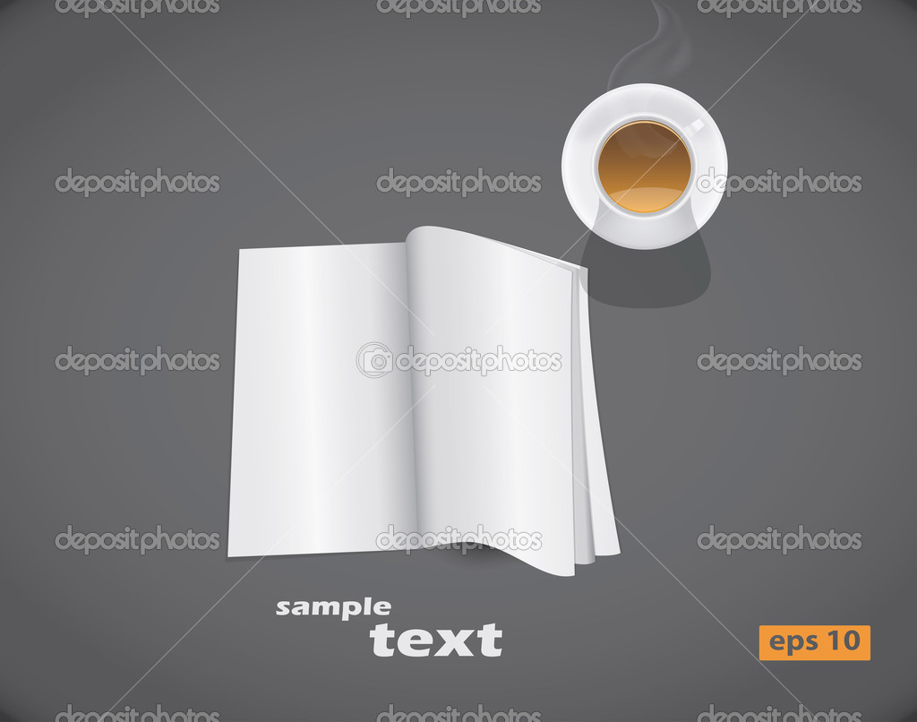 Vector blank magazine spread — Stock Vector #8326154