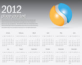 Abstract vector background for your business calendar — Stockvektor