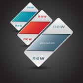 New labels. Vector eps 10 — Stock Vector