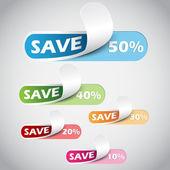 50% Sale percents label — Stock Vector