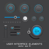 Web user interface design elements — Stock Vector