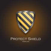 Security shield symbol icon vector illustration — Stock Vector