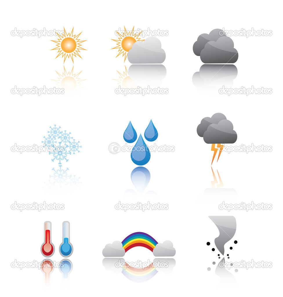 Weather icons — Stock Vector #9677396