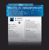 Website clean template. Vector eps 10 — Stock Vector