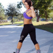 ������, ������: Beautiful Athletic Rollerblader Outdoors 4