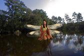 Fairy on a Lake — Stock Photo
