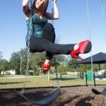 Lovely, Voluptuous Brunette on a Swing (5) — Stock Photo #8130704