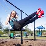 Lovely, Voluptuous Brunette on a Swing (7) — Stock Photo #8130768