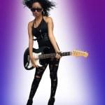 Beautiful West-Indian Teen Rocker (3) — Stock Photo