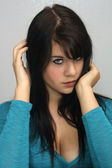 Beautiful Young Brunette, Headshot (14) — Stock Photo