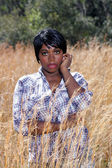 Beautiful Young Woman in Tall Grass (4) — Photo