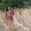 Beautiful Woman Outdoors in Tall Grass (6) — Stock Photo