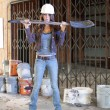 Stock Photo: Beautiful Young Construction Worker (2)
