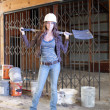 Stock Photo: Beautiful Young Construction Worker (4)