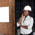 Lovely Female Construction Admin (1) — Stock Photo