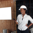 Stock Photo: Lovely Female Construction Admin (2)