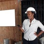 Lovely Female Construction Admin (2) — Stock Photo