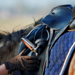 Stock Photo: Saddle with stirrups