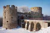 Old fortress in the winter — Stock Photo